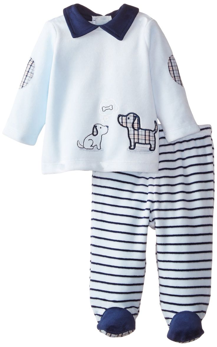 Amazon.com: Little Me Baby-Boys Newborn Puppy Velour Pant Set: Clothing