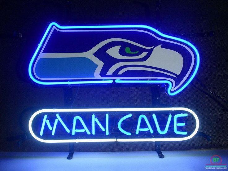 Seattle Seahawks Man Cave Neon Light NFL Sign.