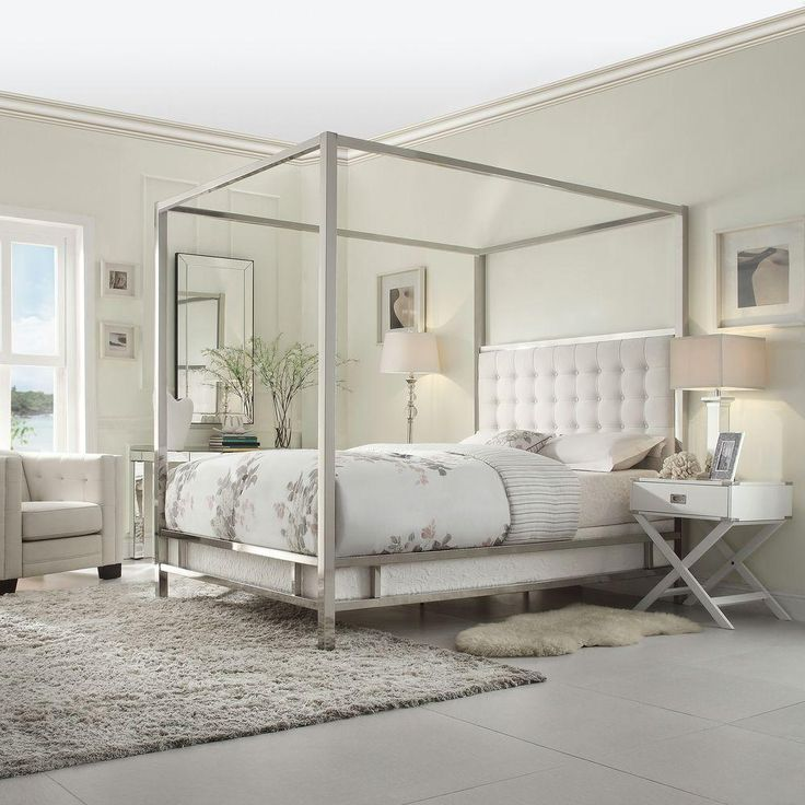 17 best ideas about queen size canopy bed on pinterest for White canopy queen bed