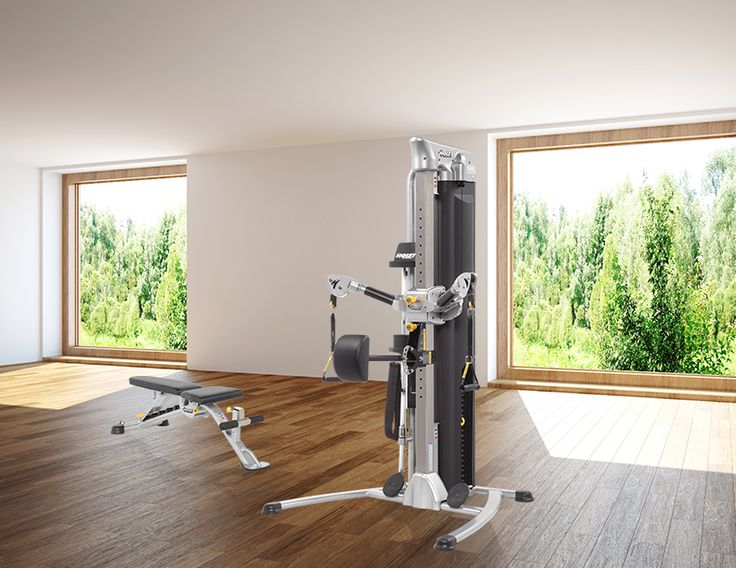Home Gym design with HOIST Fitness Mi5 and HF-5165 7 Position F.I.D. Bench