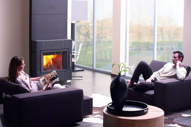 Hase Kamin - schwarze Keramik - Kaminofen - Fireplaces