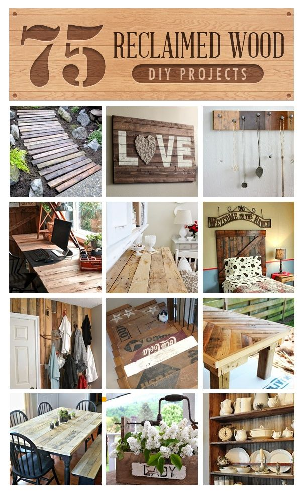 75 sensational reclaimed wood projects.
