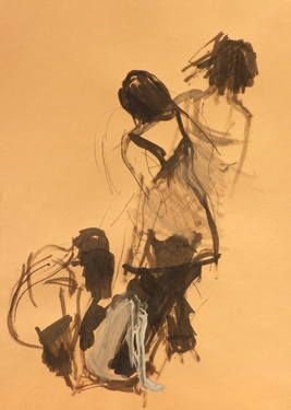 "Saatchi Art Artist Marta Zamarska; Drawing, ""Modern Dance XXIX"" #art"