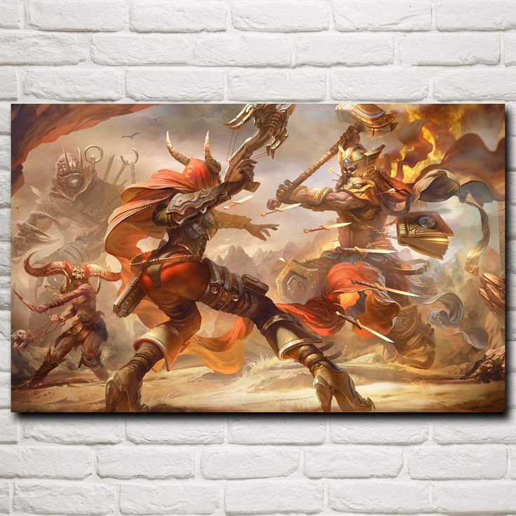 Heroes of the Storm Game Art Silk Fabric Poster Prints Home Wall Decor Printing 12x19 15x24 19x30 22x35 30x48 Inch Free Shipping #Affiliate