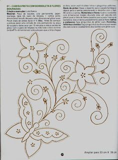 Embroidery Pattern from Riscos Indianos - Pesquisa Google. I like the flowers but not the butterfly. jwt