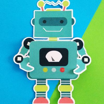 Robot Invitation | Pixels Plus Paper