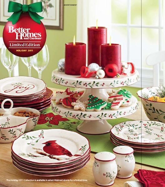 christmas dishes | Inexpensive Holiday Gift Ideas From Better Homes And Gardens : inexpensive christmas dinnerware - pezcame.com