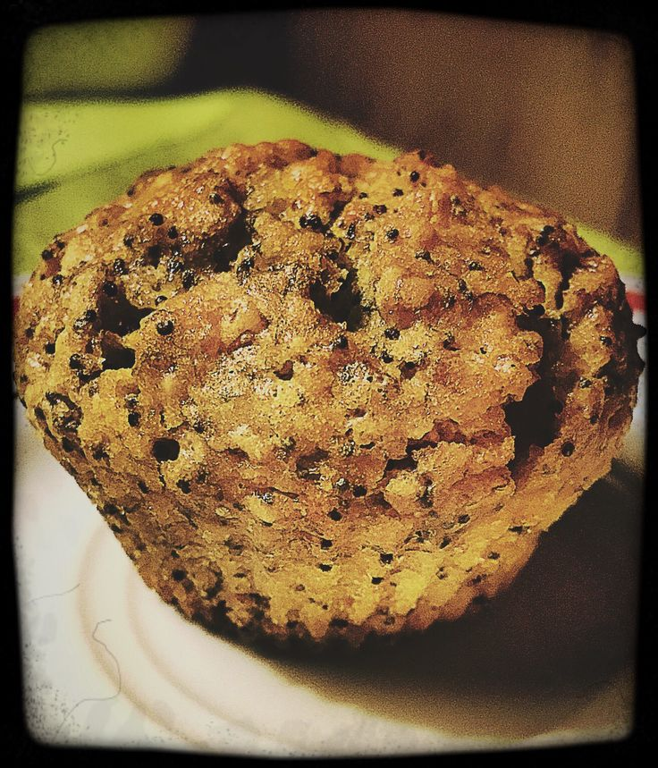 carrot-almond-poppy seed- muffin
