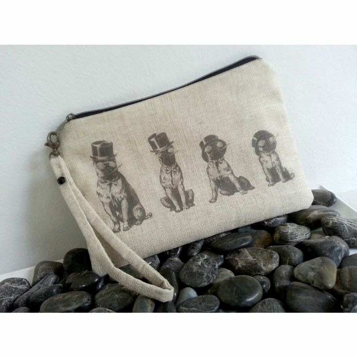 "Sjoti ""Bulldogs"" Digital Print Clutch"