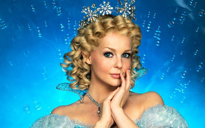 Download wallpapers Chantal Janzen, Dutch actress, photoshoot, crown, princess, beautiful woman