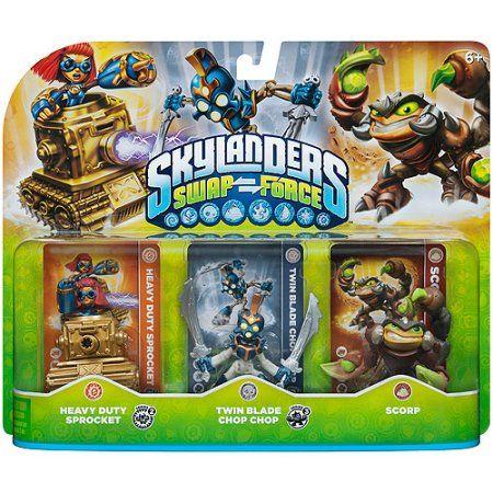 Skylanders Swap Force Triple Character Pack: Scorp, Chop Chop, Sprocket, Multicolor