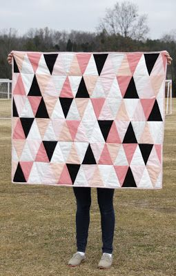 Quilt Inspiration: Free Pattern Day and Olympic Inspiration: 1000 pyramids
