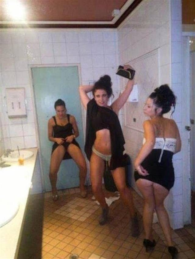 Girl bathroom selfies