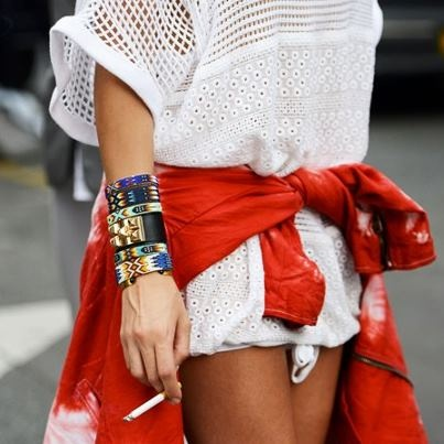 Marant: Paris Fashion, Arm Candy, Fashion Week, Bracelets, Red White Blue, Street Style, Fashion Week, Isabel Marant, Arm Parties