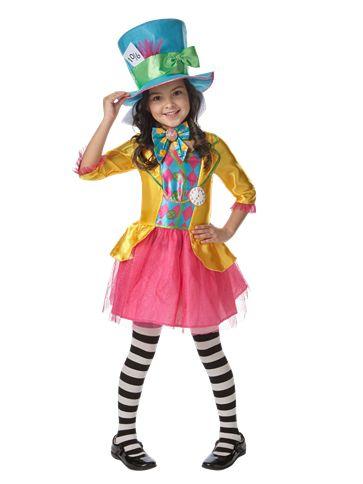 disney alice in wonderland mad hatter girl child costume front - Mad Hatter Halloween Costume For Kids