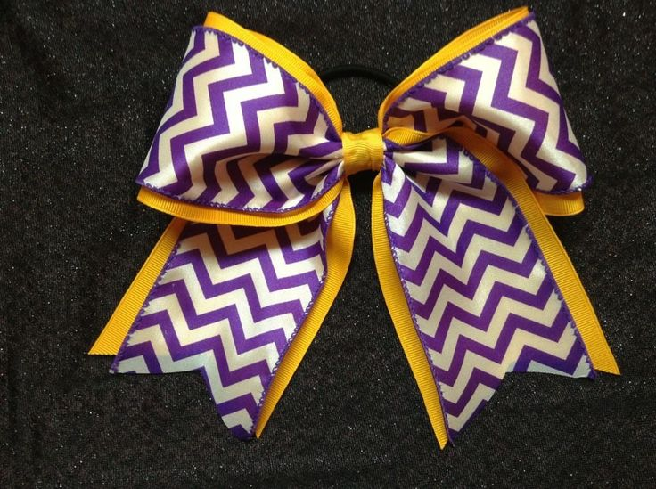 Football Season is fast approaching!  Check out this PURPLE and GOLD hair bow!