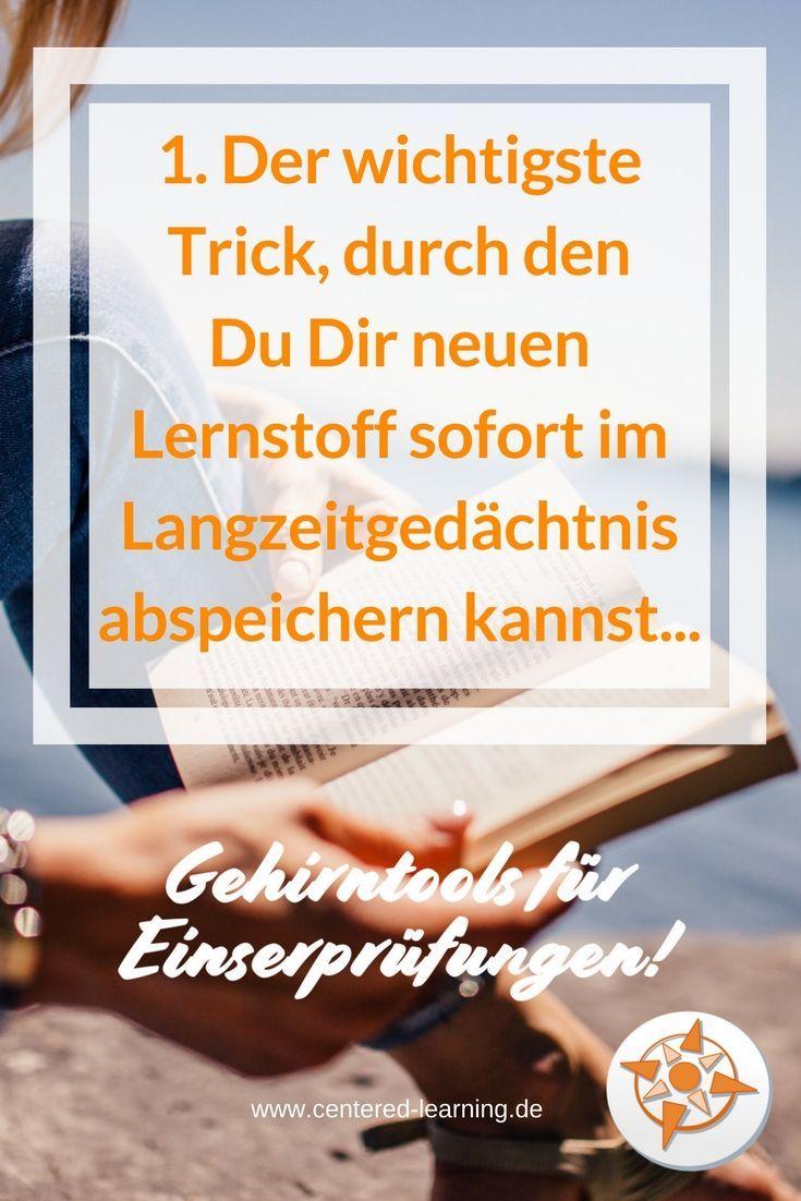Der wichtigste Trick, durch den du dir neuen Lernstoff sofort im Langzeitgedächtnis abspeichern kannst. #lernen #studium #weiterbildung #abi #bildung – Centered Learning