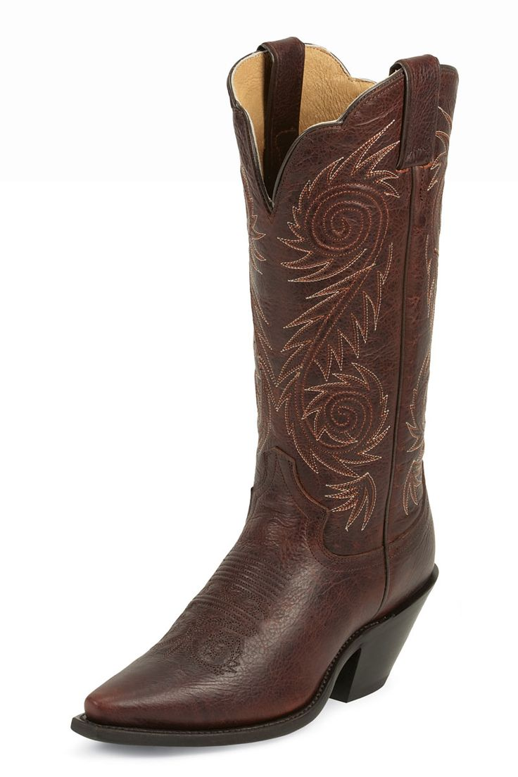 Justin Brown Cognac Damiana Cowgirl Boot