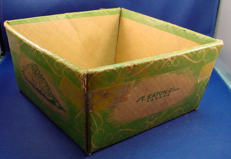 Vintage T Eaton Co Cardboard Fruit Bowl - Eatons Canada Department Store