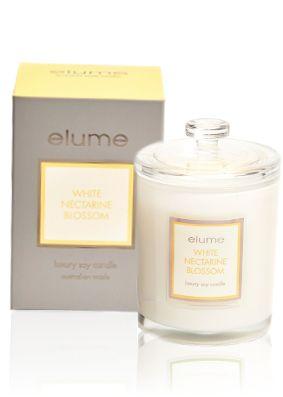 Elume Luxury White Nectarine Blossom Candle