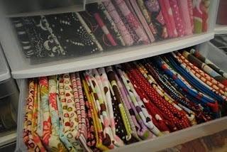 Fabric organization: Craft Organization, Mondays, Organizations, Storage Idea, Crafts Quilts Fabric Storage, Fabrics, Fabric Organization Need, Craft Rooms