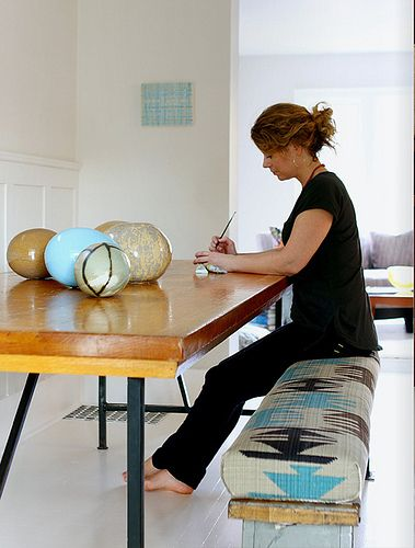an artist in an artist's home in toronto