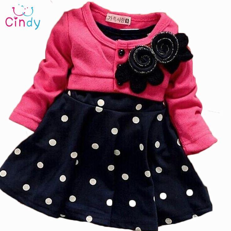 $9.18 (Buy here: https://alitems.com/g/1e8d114494ebda23ff8b16525dc3e8/?i=5&ulp=https%3A%2F%2Fwww.aliexpress.com%2Fitem%2FFree-Shipping-2016-New-Style-Baby-Girl-Long-Sleeved-Bow-Dress-Children-Flower-Princess-Dress-Kid%2F32594252498.html ) Free Shipping 2016 New Style Baby Girl Long-Sleeved Bow Dress Children Flower Princess Dress Kid In Polka Dot Dress Retail for just $9.18
