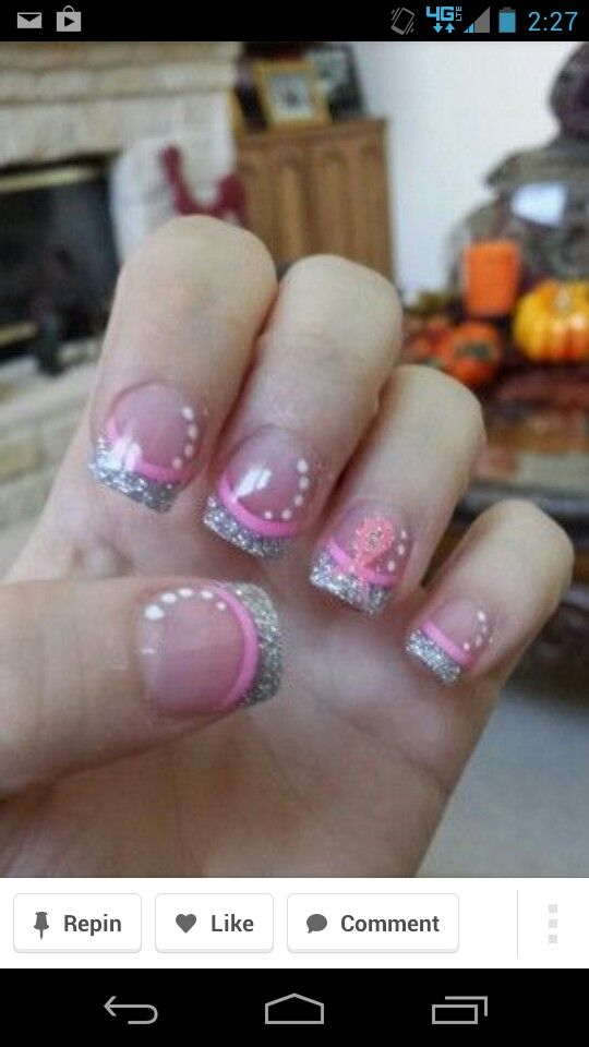 38 best nail art images on Pinterest   Nail scissors, Breast cancer ...