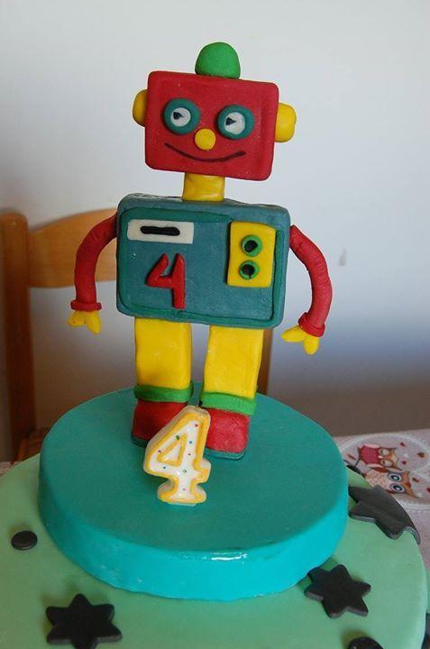 Topper torta Robot