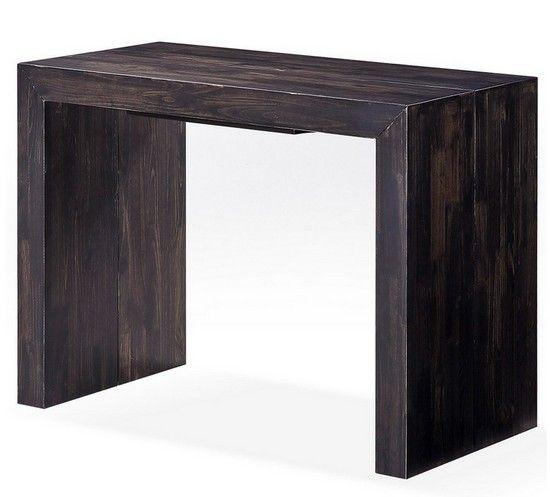 Achetez vite cette Table Console Extensible Brun Moka EVAN au meilleur prix ! - LeKingStore