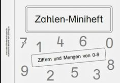 Materialwerkstatt: Zahlen-Miniheft Teil 2