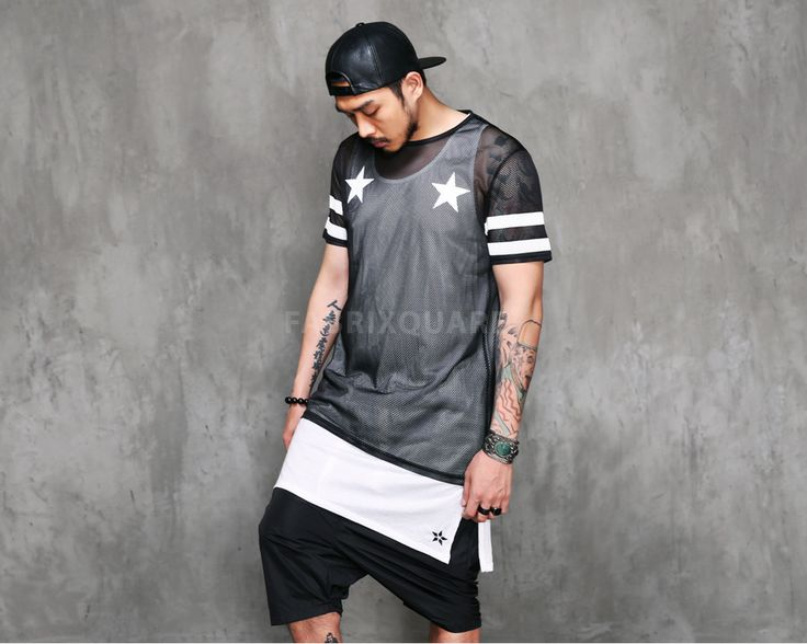 Mens VANDALIQUE 99 Mesh Net Short Sleeve Tshirt at Fabrixquare $36.00