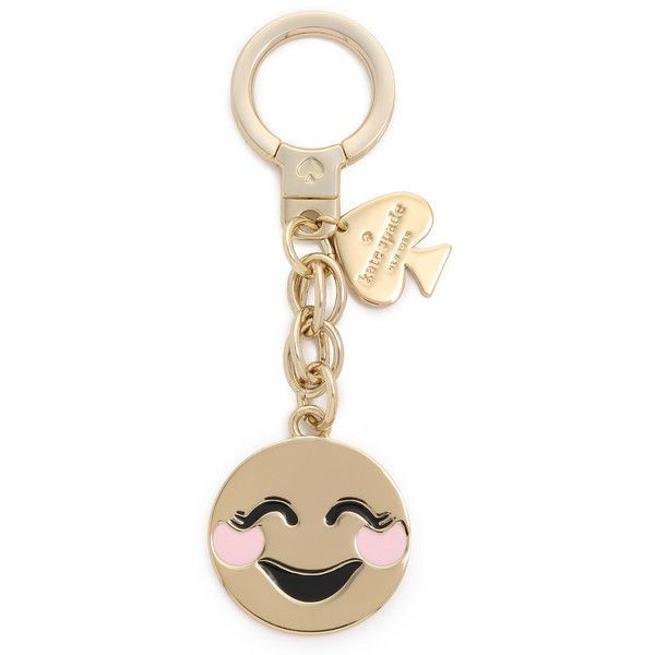 Kate Spade New York Blushing Emoji Keychain ($58) ❤ liked on Polyvore featuring accessories, multi, kate spade, kate spade key chain and fob key chain