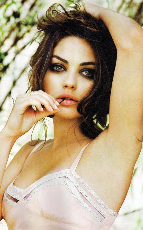 Mila Kunis: Girls Crushes, Milakunis, Eye Makeup, Mila Kunis, Dark Eye, Pink Lips, Beautiful People, Smokey Eye, Hair