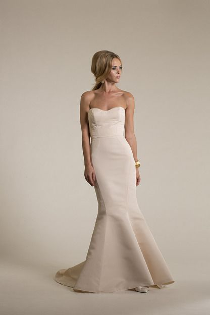 Amy Kuschel | Lennon silk wedding dress... You could do so many things to this dress!