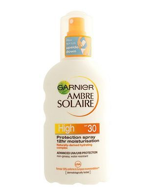 Ambre Solaire 12 Hour Moisturising Protection 24 Advantage card points. Garnier Ambre Solaire Moisturising Protection Spray SPF 30 has advanced UVA and UVB photostable filters to protect the skin. Its non sticky, non greasy formula is quick and e http://www.MightGet.com/february-2017-1/ambre-solaire-12-hour-moisturising-protection.asp