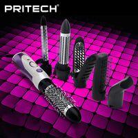 PRITECH Professional 6 In 1 Rotating Hair Brush Muti-Functional HS-586 Hair Styler With Comb Escova De Cabelo Rotativa