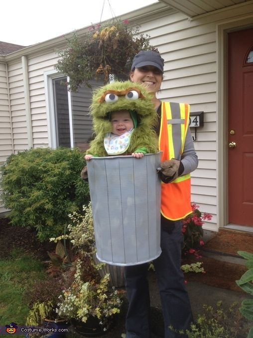 Oscar the Not-so-Grouchy Grouch - Halloween Costume Contest via @costume_works. Love this