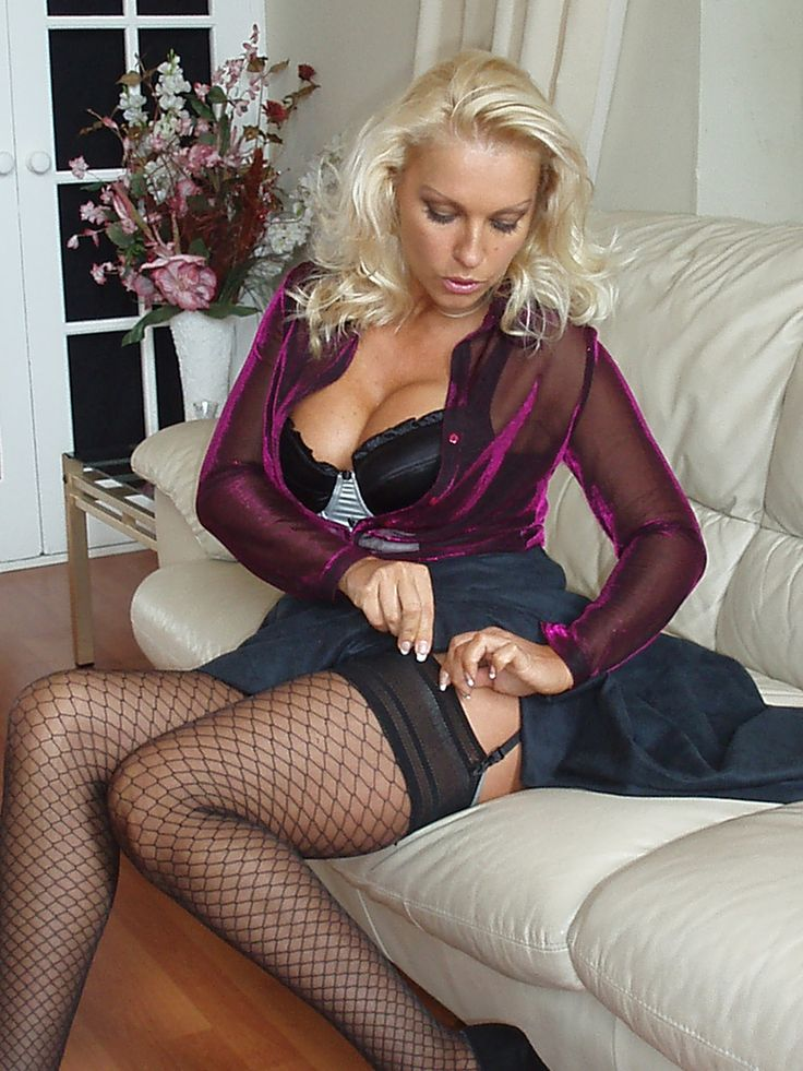 Fish nets over pantyhose