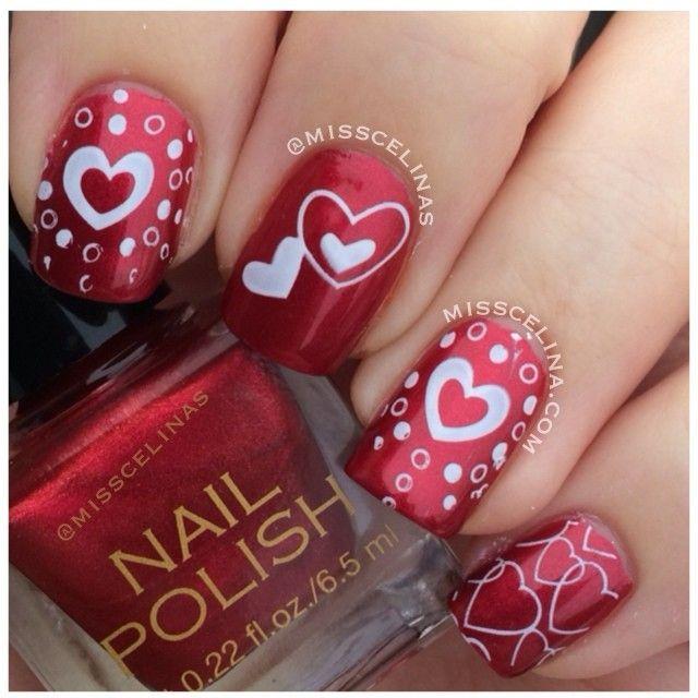 valentine by misscelinas #nail #nails #nailart