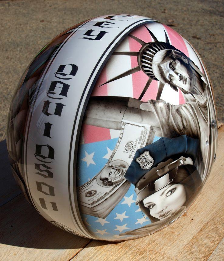 casque moto custom Peint par Bude Julien