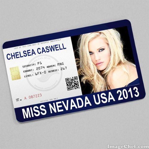 Chelsea Caswell Miss Nevada USA 2013 card