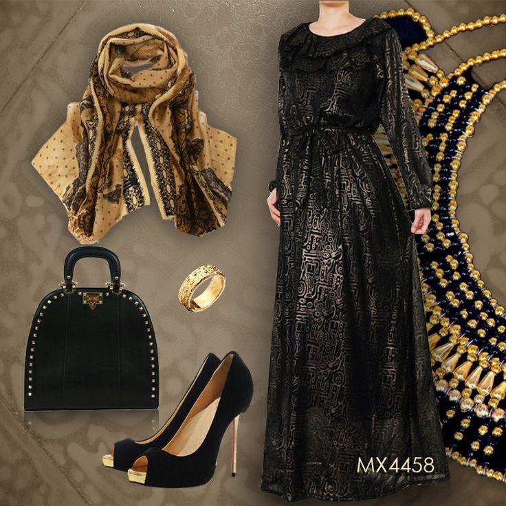 Hijab Dress Up #Chiffon #Gold #Egypt