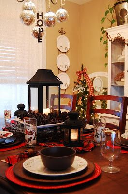 Pieces Of Molly: Rustic Christmas Tablescape · Christmas Table  DecorationsRustic ... Part 91