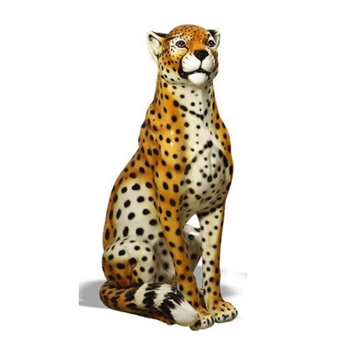 Cheetah Statue | Sculpture | Intrada | Ceramic