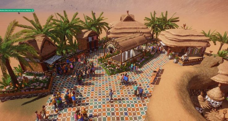 Africa themed foodcourt, work in progress but getting