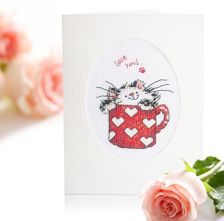 """Открытка """"Люблю тебя!!"""" - открытка,с любовью,котик,валентинка,котенок"""