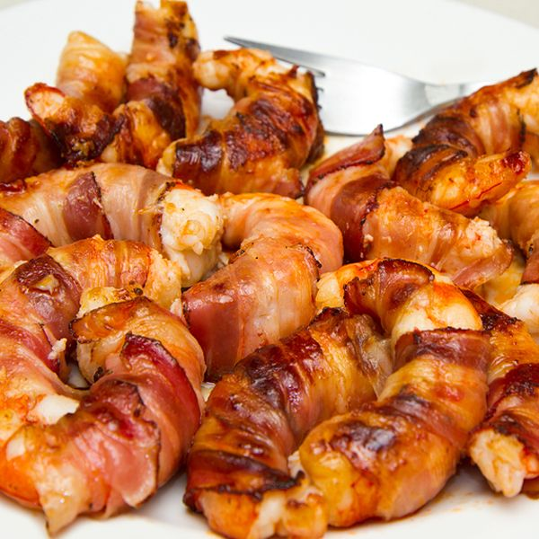 Bacon Wrapped Shrimp Bites