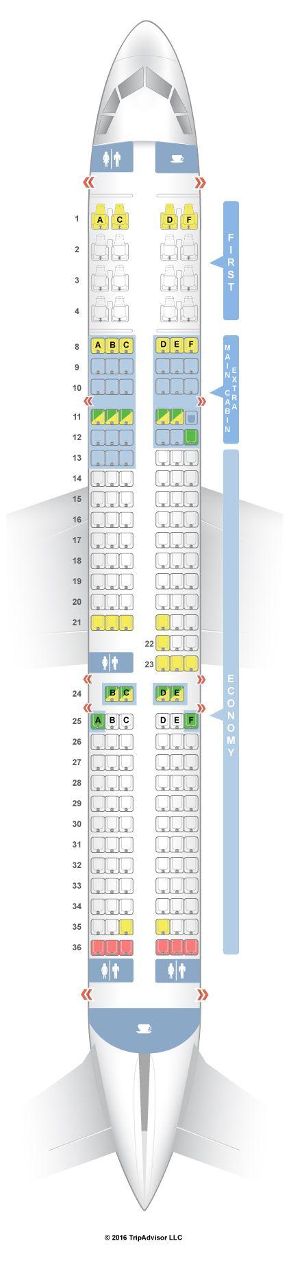 SeatGuru Seat Map American Airlines Airbus A321 (32B) V2