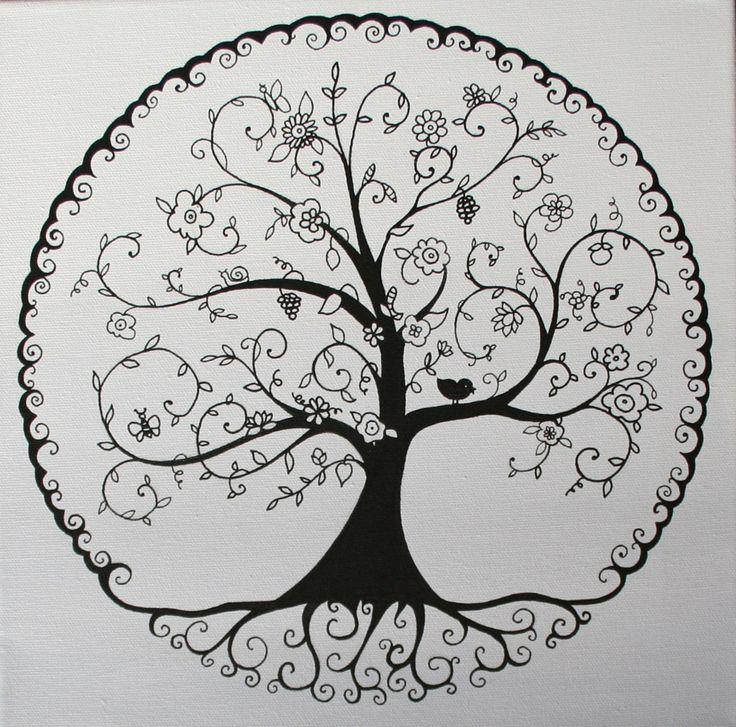 L'arbre de vie en NB par Dessine-moi un prénom